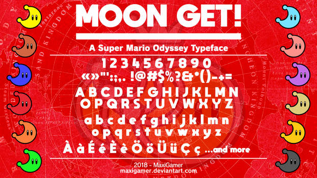 [OUTDATED] MOON GET!: A Super Mario Odyssey Font