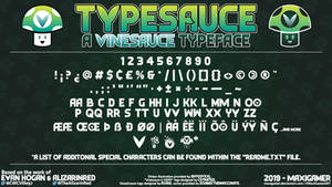 [Font] TYPESAUCE - A Vinesauce Typeface (V1.0.0) by MaxiGamer