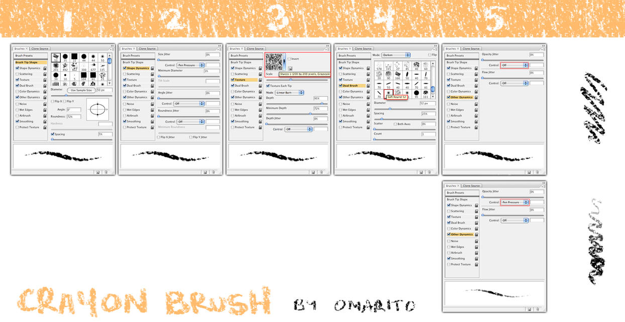 OmaritoCrayonBrushes by omarito