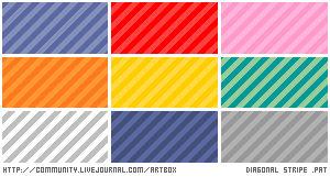 Thirty candystripe patterns