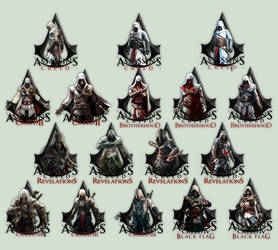 Assassin's Creed (I, II, BH, R, III, BF) Icons