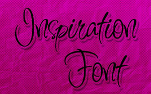 Inspiration Font by HeyHelleen