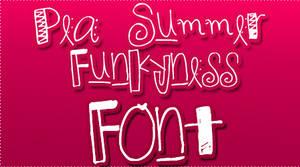 Pea Summer Funkyness FONT