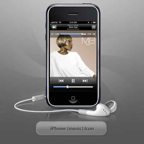 iPhone -music- icon by twinware on DeviantArt