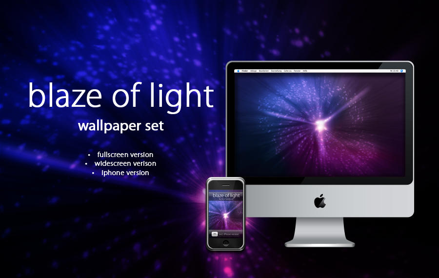 blaze of light - wallpaper set by twinware