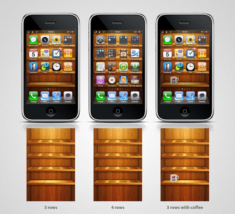 wooden shelf iphone4 wallpaper