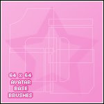 64 x 64 Avatar Base Brushes by carrotmuncha