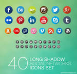 Long Shadow Social Icons Pack by mikymeg