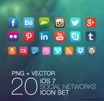 iOS 7 Social Icons Pack