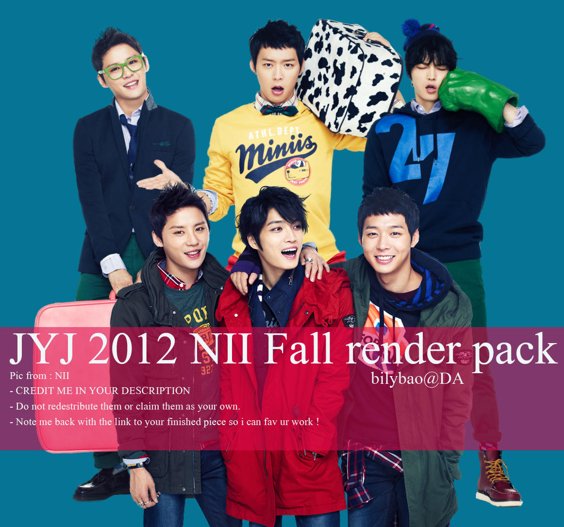 JYJ 2012 NII Fall render pack by BiLyBao