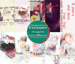 Happy the Nine Anniversary TVXQ + PSD by BiLyBao
