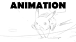 Pikachu - Quick Attack! :Animation Sketch: by moxie2D