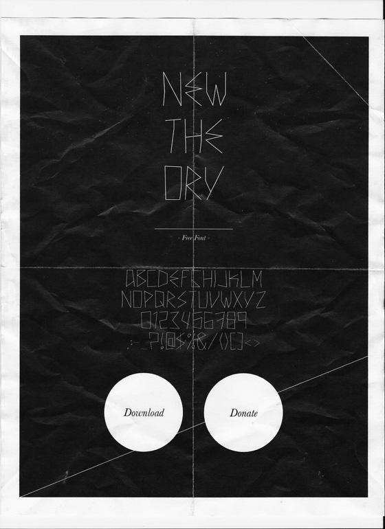 new theory / FREE FONT by noearaujo