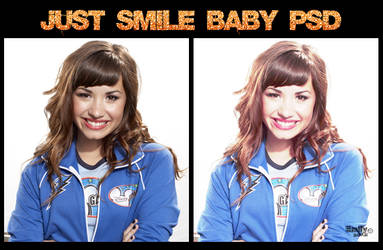 Just Smile Baby PSD