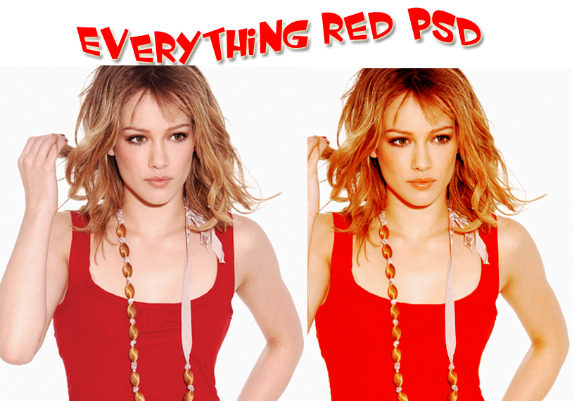 Everything Red PSD. by mydreamscometrue