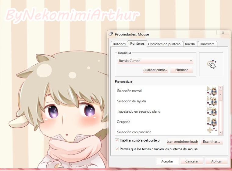 Russia cursor ByNekoMimiArthur by Nekomimiarthur