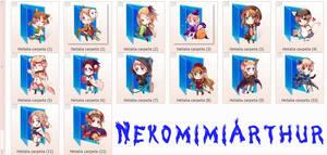 Hetalia Halloween folders (icons)