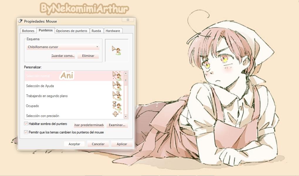 Chibiromano cursor ByNekomimiArthur by Nekomimiarthur