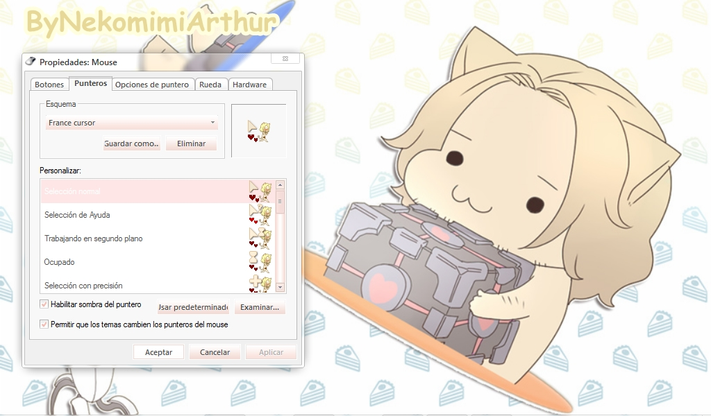 France cat cursor ByNekomimiArthur by Nekomimiarthur