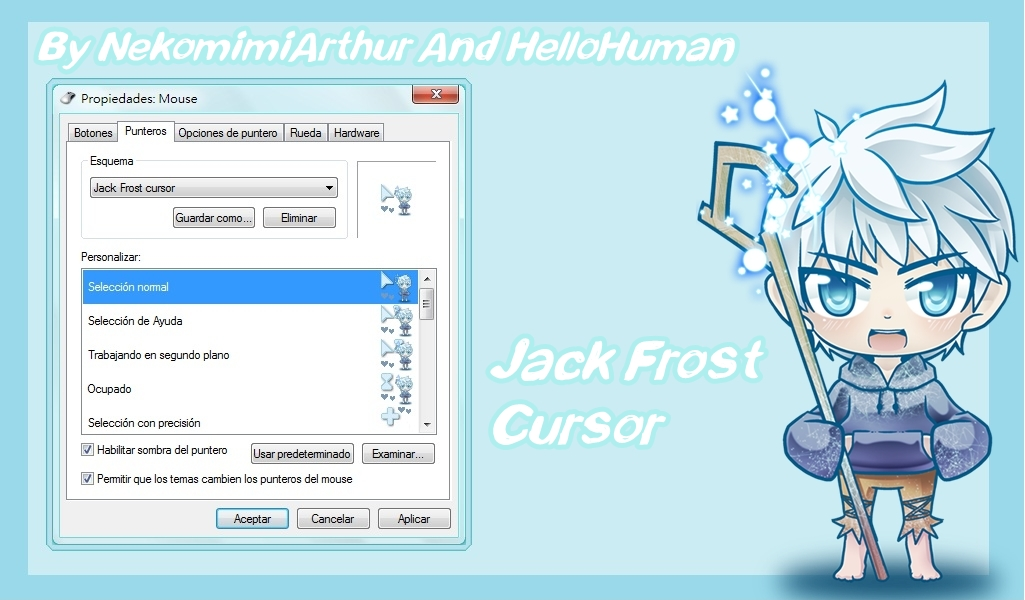 Jack Frost Cursor By NekomimiArthur And Hellohuman by Nekomimiarthur