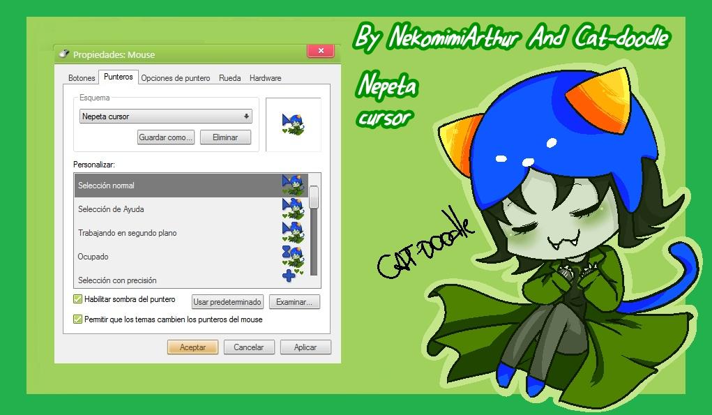 Nepeta Cursor By NekomimiArthur And cat-doodle by Nekomimiarthur