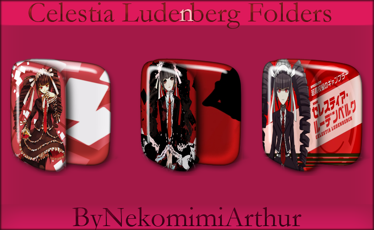 Celestia Ludenberg Folders ByNekomimiArthur by ...
