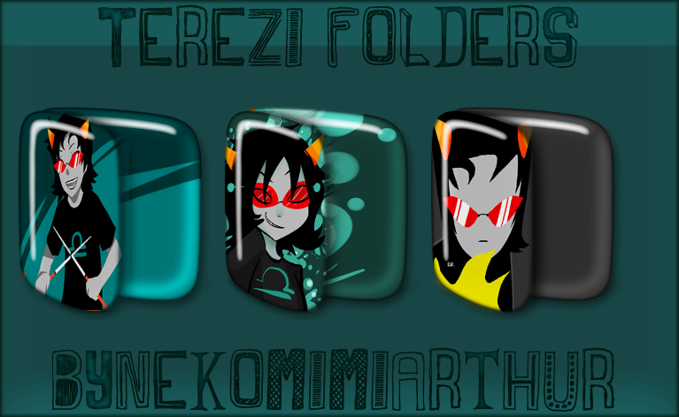 Terezi Folders ByNekomimiArthur by Nekomimiarthur