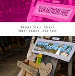 Market Stall Mockup 1  - Editable .PSD Download