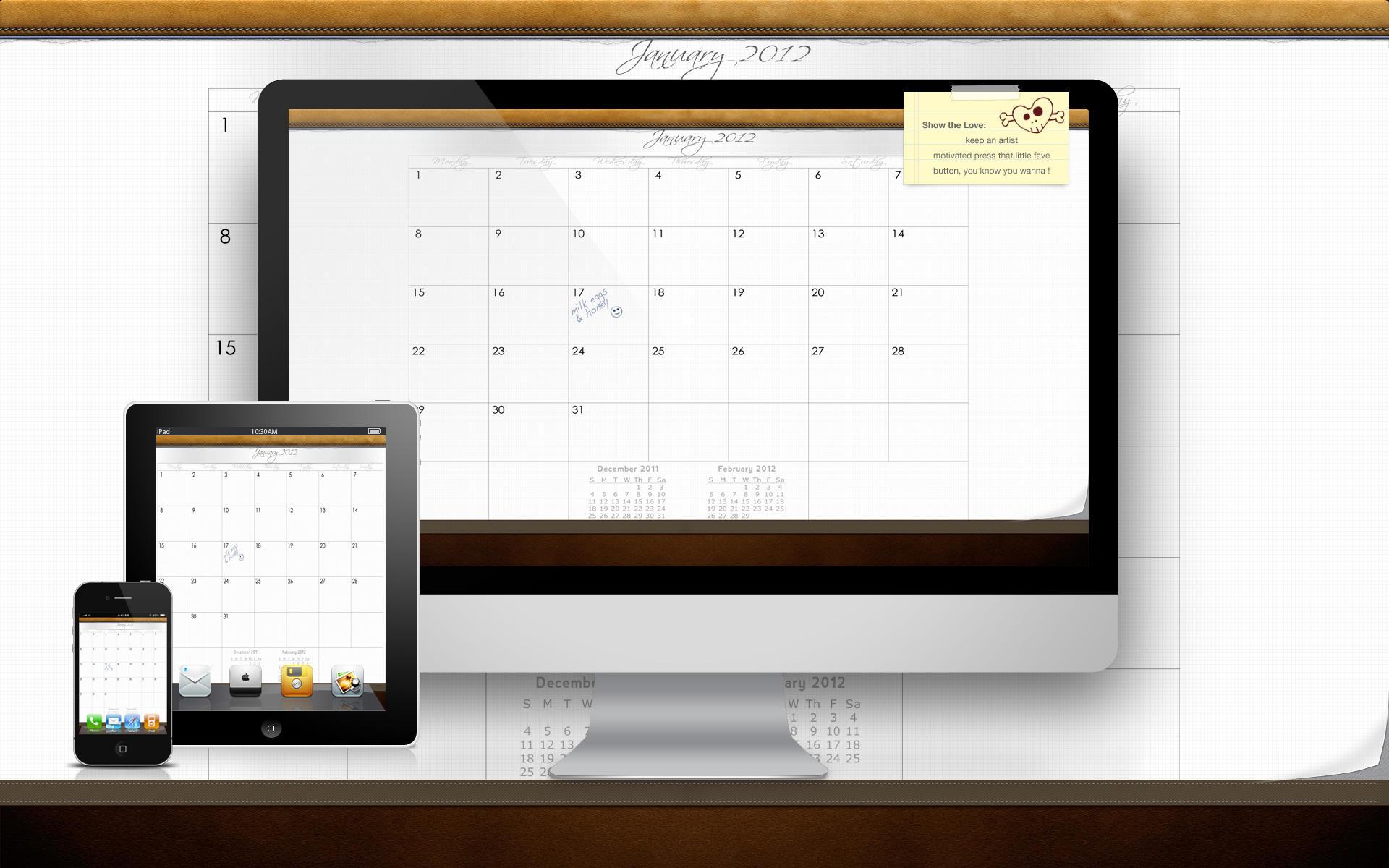 2012 January Calendar by IanWoods