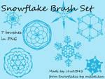 Snowflake Brush Set-PNG
