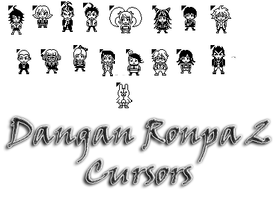 dangan ronpa 2 cursors by bloomsama - Halloween Tumblr Cursors