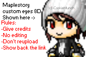 [Maplestory Custom] Custom Female 5 eyes by Externity