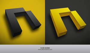N 3D Icons
