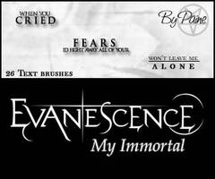My Immortal - Text Brushes by NemesisDivina666