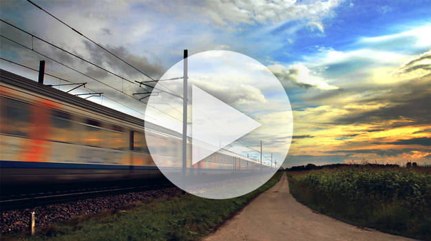 GIF - Sunset train