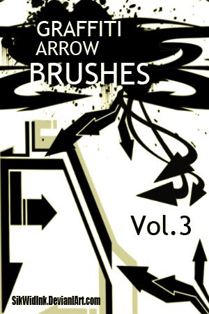 Graffiti Arrow Brush Pack 3