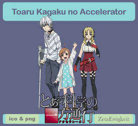 Toaru Kagaku no Accelerator Icon by ZetaEwigkeit