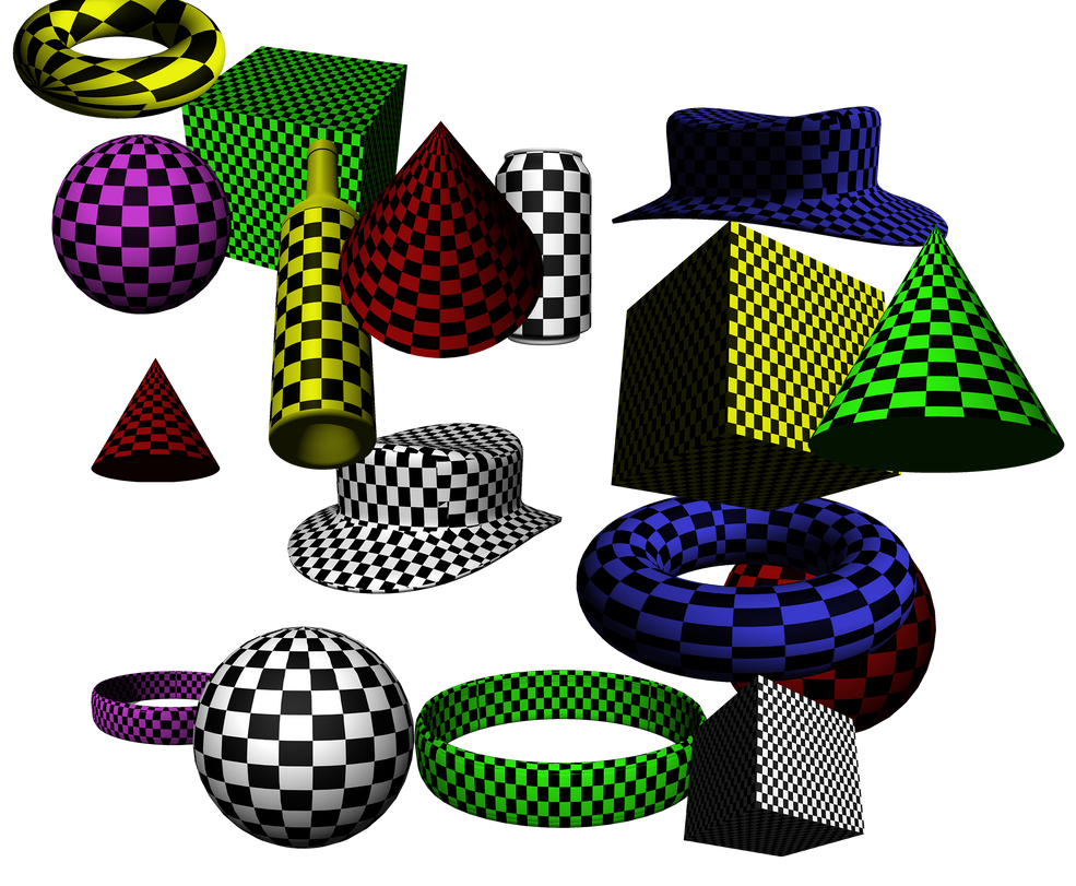 114 free 3D checkerboard objects -wonderlandstockX by wonderlandstockX