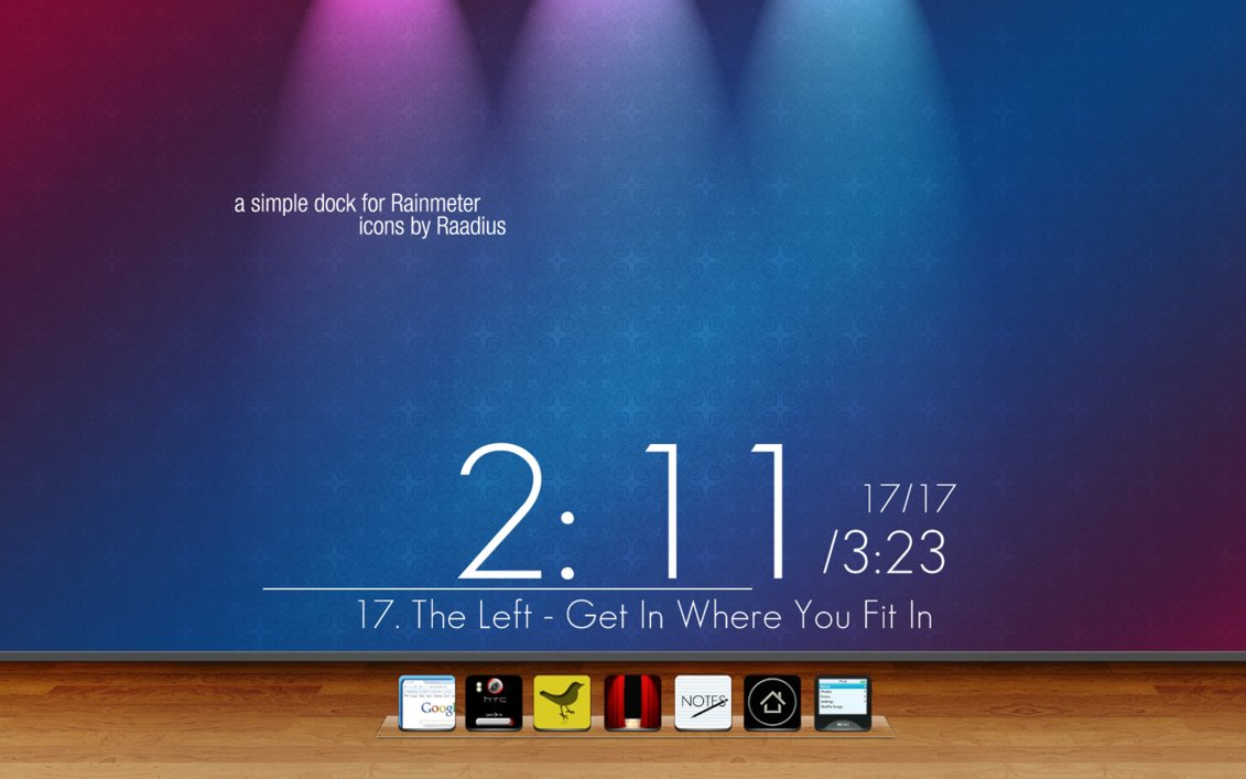 SimpleDOCK for Rainmeter