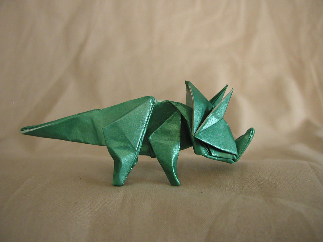 Origami Triceratops - DRAFT by DonyaQuick on DeviantArt - photo#44