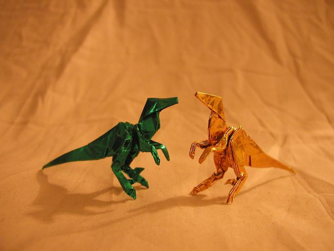 Origami Raptor Draft by DonyaQuick