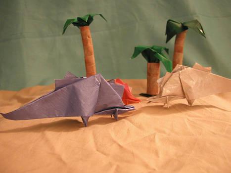 Origami Stegosaurus Instr.