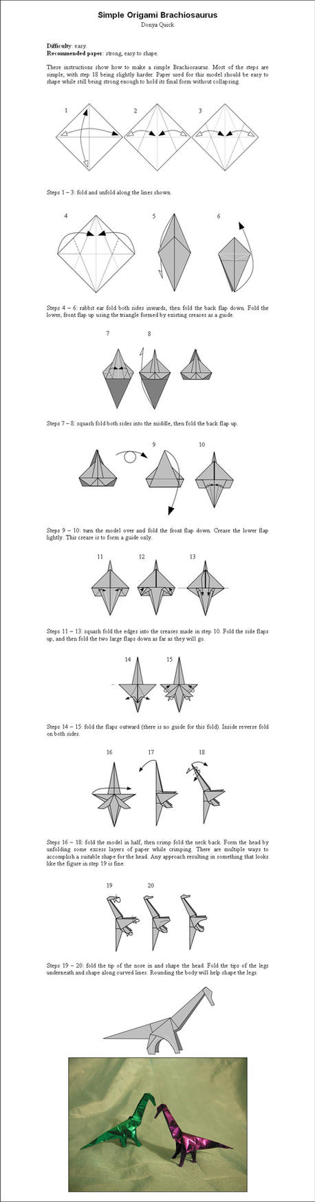 Origami    Simple    Diagrams        EMBROIDERY      ORIGAMI