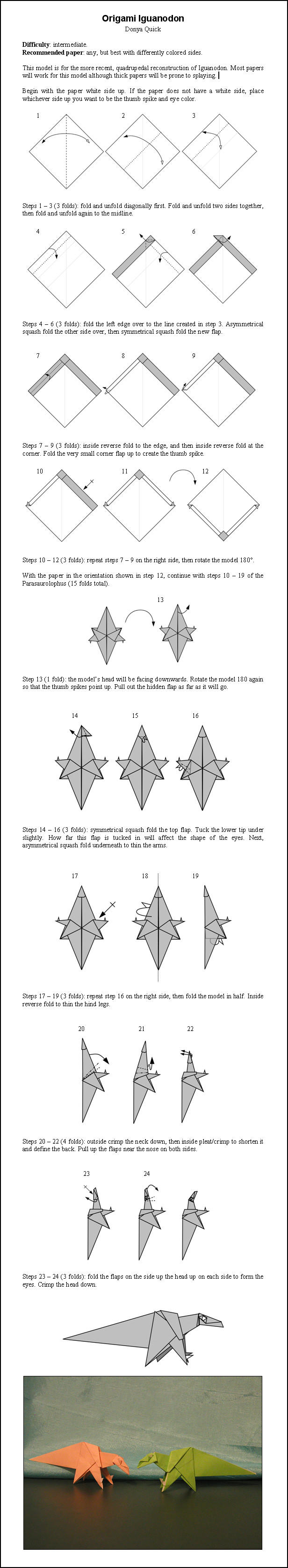 How To Make Origami Dragon Claws Step By Step
