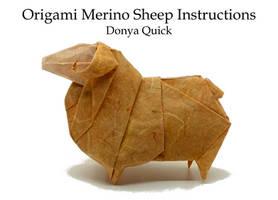 Merino Sheep Origami Instructions