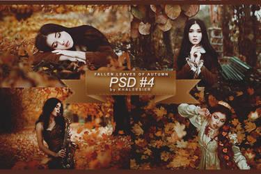 PSD #4 - Fallen Leaves of Autumn by khaleesier