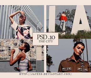 PSD 10 - The City by jacexs