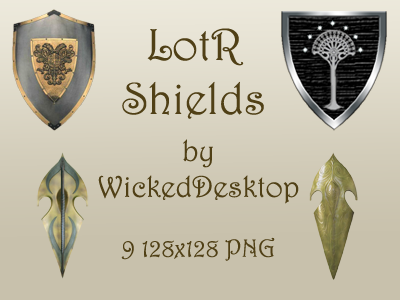 LotR Shields by WickedDesktop