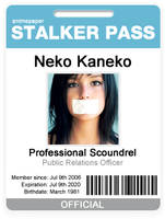Stalker Pass - Badge ID Card by chaos-kaizer
