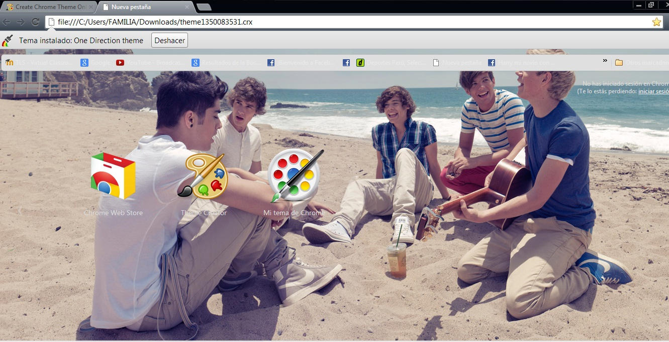 Google chrome theme infinite - Ibehappyrawr 60 26 One Direction Theme Google By Bypame